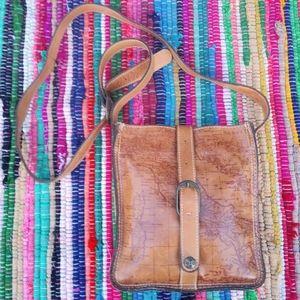 Patricia Nash Italy Map Venezia Crossbody Bag